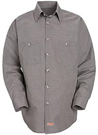 Red Kap Men's Micro-Check Long Sleeve Work Shirt