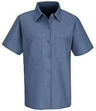Red Kap Women's Industrial Short Sleeve Work Shirt