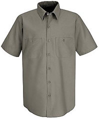 Red Kap Mens Industrial Short Sleeve Work Shirt SP24 43b3f5436