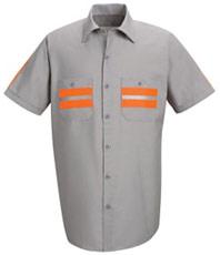 Red Kap Men's Enhanced Visibility Shirt