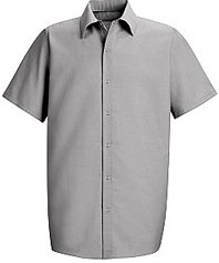 Red Kap Men's Specialized Pocketless Shirt