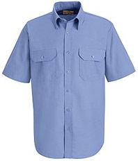 Red Kap Men's Short Sleeve Solid Dress Uniform Shirt