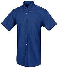 Red Kap Men's Short Sleeve Poplin Dress Shirt