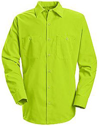 Red Kap Enhanced Visibility Long Sleeve Work Shirt