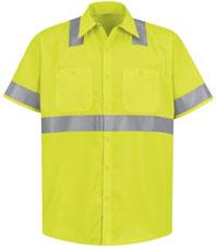 Red Kap Hi-Visibility Short Sleeve Work Shirt - Type R, Class 2