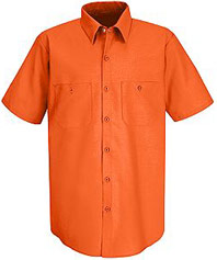 Red Kap Enhanced Visibility Short Sleeve Work Shirt