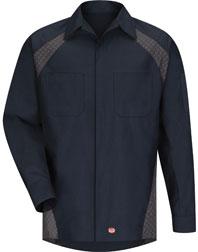 Red Kap Diamond Plate Long Sleeve Shop Shirt