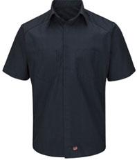 Red Kap Striped Motorsports Short Sleeve Shirt