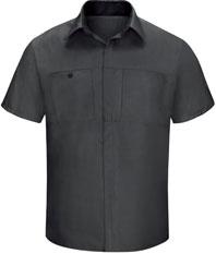 Men's Short Sleeve Performance Plus Shop Shirt W/Oil-Block Technology