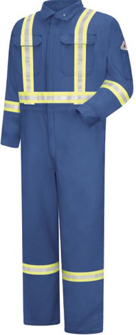 Bulwark Flame Resistant Cool Touch Coverall with Reflective Trim