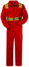 Flame Resistant Deluxe Coverall w/ Reflective Trim