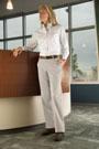 Red Kap Women's Plain Front Cotton Casual Pant