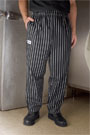 Chalk Stripe Baggy Chef Pants